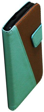 Exian Leather Wallet Case For LG Nexus  5 - Green & Brown - image 1 of 4