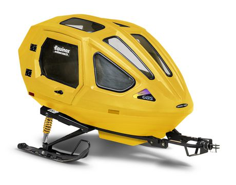 Equinox Snowcoach Boggan Yellow With Exterior Storage Rack