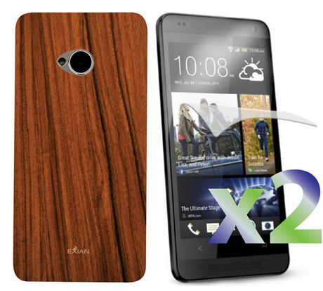 Exian Case for HTC One - Wood Brown - image 1 of 2
