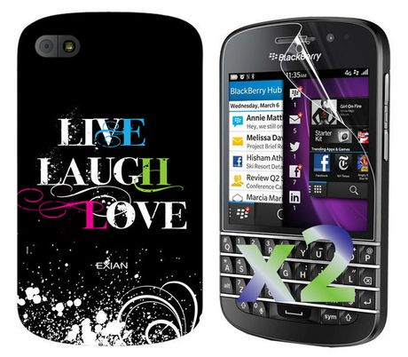 detailed look 4b6c8 39514 Exian Case for Blackberry Q10 - Live Laugh Love