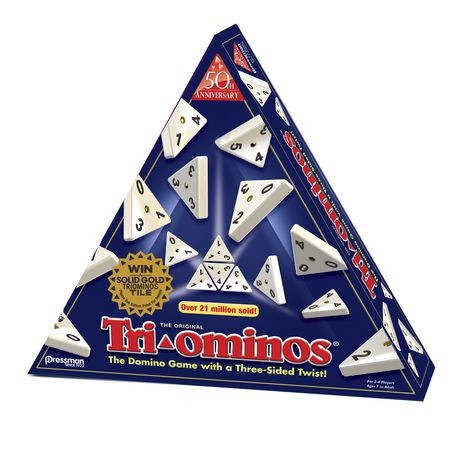 Pressman Toys Tri-Ominos - The Domino Game (Three Sided Twist) - image 1 of 2