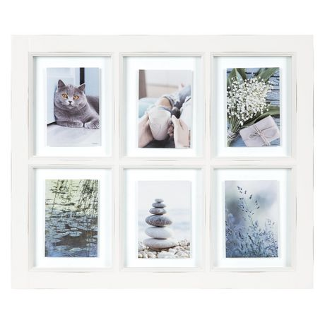 Massie 6 Opening Window Collage White Frame Walmart Canada