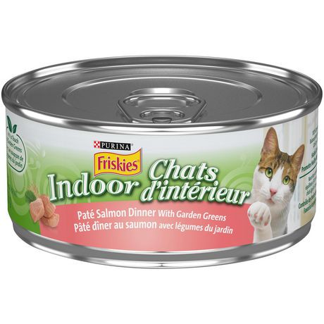 purina friskies indoor classic pate salmon dinner with garden greens cat food walmart canada. Black Bedroom Furniture Sets. Home Design Ideas