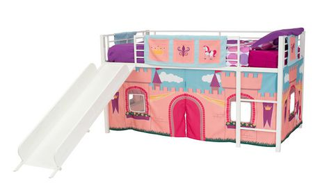 Dhp Curtain Set For Kid S Loft Bed, Loft Bed Curtains Canada