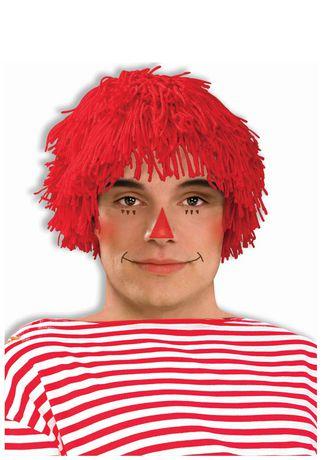Perruque de poupée de chiffon Rubie's pour hommes en rouge - image 1 de 1
