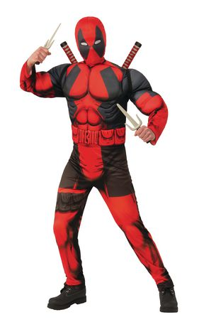 Dead Pool Marvel Deadpool Muscle Chest Teen Costume - image 1 of 2