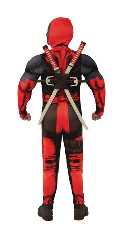 Dead Pool Marvel Deadpool Muscle Chest Teen Costume - image 2 of 2