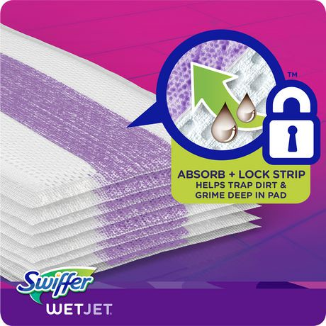 Swiffer Wetjet Hardwood Floor Spray Mop Pad Refill