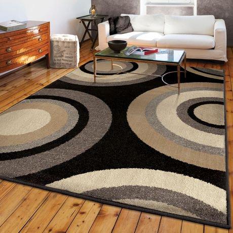 orian rugs roundtree black area rug walmart canada. Black Bedroom Furniture Sets. Home Design Ideas