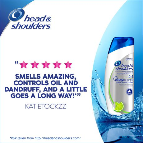 Head and Shoulders Instant Oil Control 2-in-1 Anti-Dandruff Shampoo + Conditioner - image 5 of 6