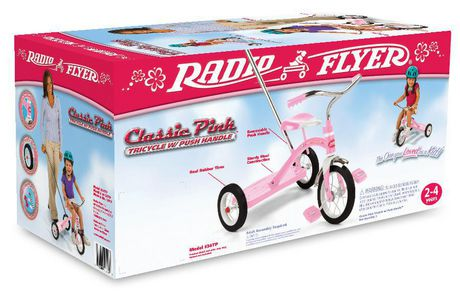 Radio Flyer Classic Pink Tricycle with Push Handle - image 8 of 8