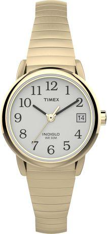 Montre Extensible Date Timex Dames Reader Et Easy Pour Avec Bracelet Doré W29YDIeHE