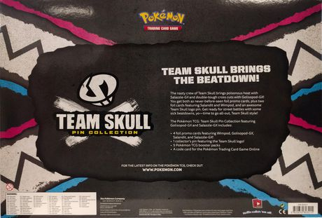 Pokemon Team Skull Gx Pin Box - English Only - image 3 of 3