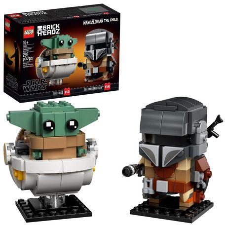 Ensemble de construction <em>Le Mandalorien et l'Enfant </em>de <em>Star Wars</em> par Lego BrickHeadz