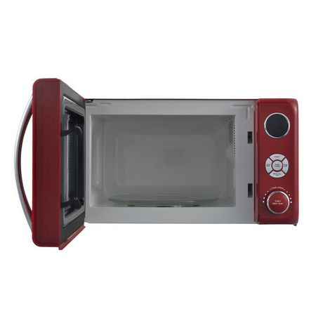 Galanz 0.7 cu ft Retro Red Counter Top Microwave - image 2 of 6