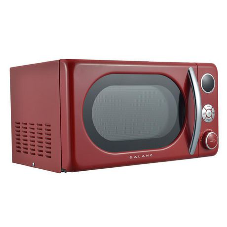 Galanz 0.7 cu ft Retro Red Counter Top Microwave - image 3 of 6