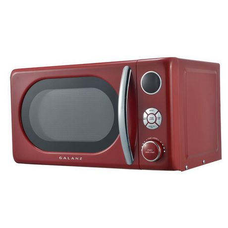 Galanz 0.7 cu ft Retro Red Counter Top Microwave - image 4 of 6