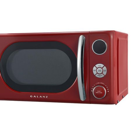 Galanz 0.7 cu ft Retro Red Counter Top Microwave - image 5 of 6