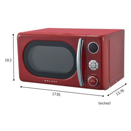 Galanz 0.7 cu ft Retro Red Counter Top Microwave - image 6 of 6