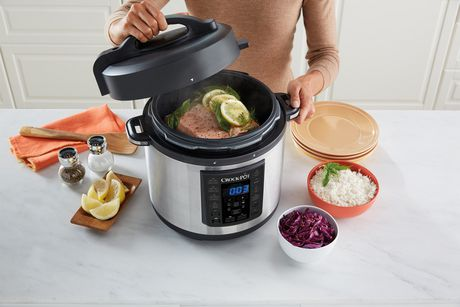 Crock-Pot 6Qt 8-in-1 Multi-Use Express Pot Programmable Pressure Cooker - image 4 of 8