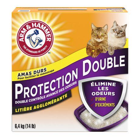 Litière agglomérante ARM & HAMMER à formule avancée anti-odeurs protection double pour chats - image 2 de 2