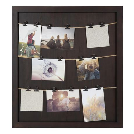 hometrends Marrone Clip Collage Frame | Walmart Canada