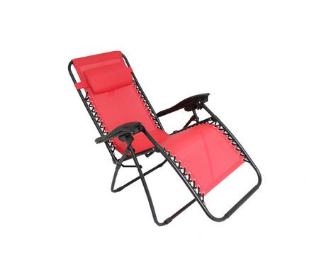 Henryka deluxe casual chair red walmart canada for Canadian tire chaise lounge