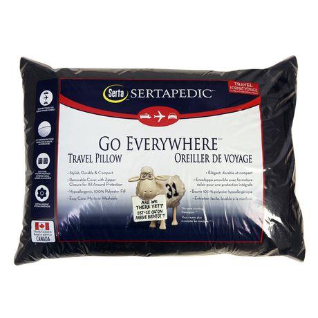Serta Black Travel Pillow Walmart Canada