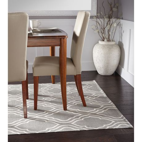 Home Trends Area Rug 4 Ft 11 In X 6 Ft 9 In Grey Geo