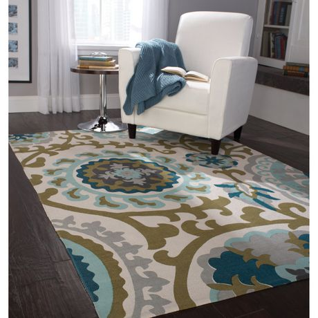 Home Trends Area Rug 4 Ft 11 In X 6 Ft 9 In Blue Green