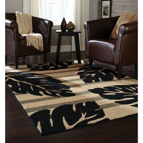 Black And Tan Area Rugs home trends area rug 6 ft. 6 in. x 8 ft. 6 in. black/tan leaf