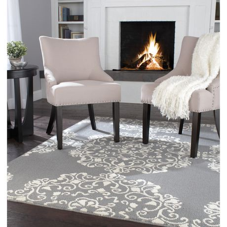 Home Trends Area Rug 6 Ft 6 In X 8 Ft 6 In Grey Ivory