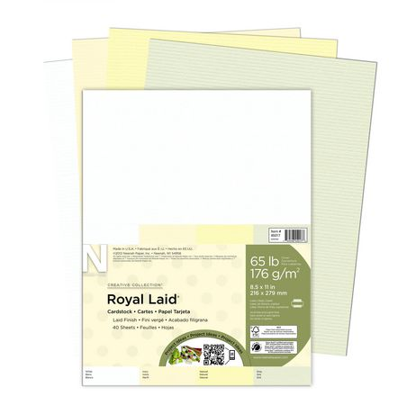 Creative Collection Royal Laid Assorted Letter Pastel Paper