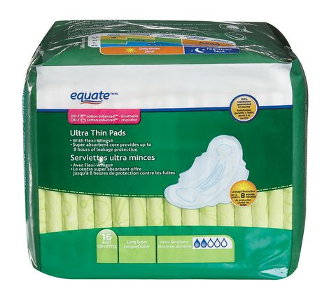 Equate Super Absorbency Ultra Thin Pads - image 1 of 5