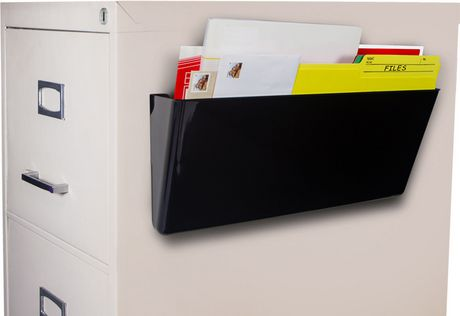 Storex Magnetic Wall File Pocket/ Legal Sized / Black 4.5 X 16.25 X 4.5 Inches - image 1 of 4