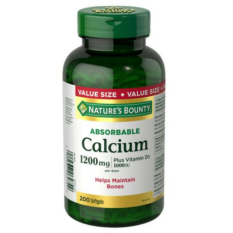 Nature's Bounty Absorbable Calcium plus Vitamin D3 Value Size - image 1 of 2