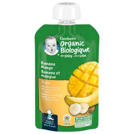 Gerber 174 Organic Pur 233 E Banana Mango Baby Food Walmart