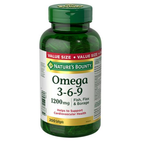 Nature S Bounty Omega 3 6 9 1200 Mg Value Size Walmart Canada