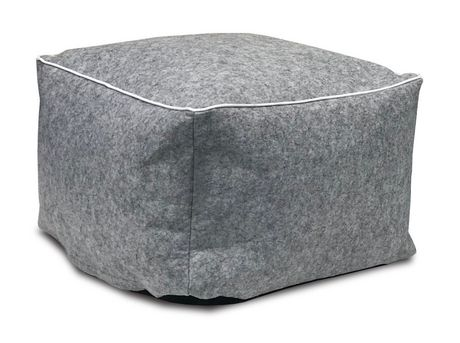Red Label Grey Bean Filled Pouf Walmart Canada