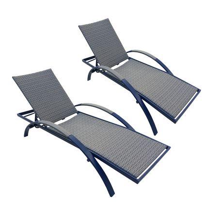 chaise longue multi positions pour bain de soleil d 39 henryka bleue. Black Bedroom Furniture Sets. Home Design Ideas