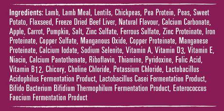 VitaLife Natural Diets Dog Food Lamb & Lentil Grain Free Formula - image 2 of 3