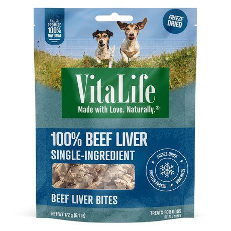 VitaLife Beef Liver Bites All Natural Dog Treats - image 1 of 3