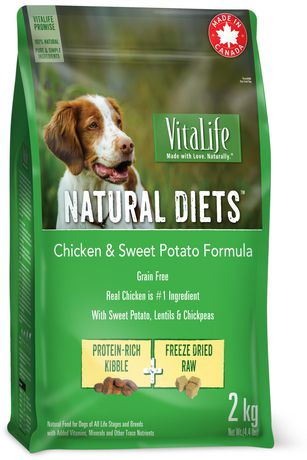 VitaLife Natural Diets Dog Food Chicken & Sweet Potato Grain Free Formula - image 1 of 3