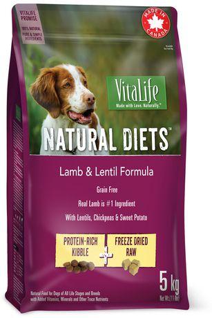 VitaLife Natural Diets Dog Food Lamb & Lentil Grain Free Formula - image 1 of 3