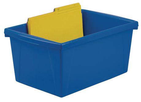 Storex 5.5 Gallon/ 21Litres Bac d'entreposage / Multicouleurs (6 unités /paquet) - image 2 de 5