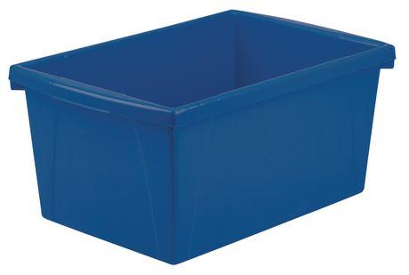 Storex 5.5 Gallon/ 21Litres Bac d'entreposage / Multicouleurs (6 unités /paquet) - image 3 de 5