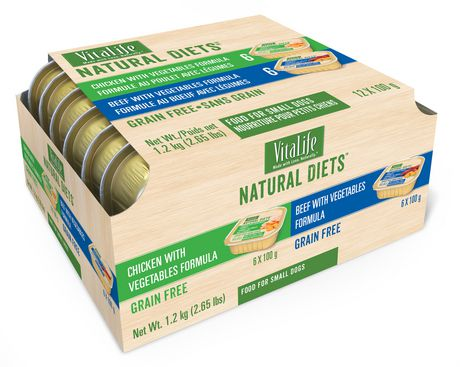 VitaLife Natural Diets Variety Pack for Small Dogs, Chicken with Vegetables Formula -  Beef with Vegetables Formula - image 1 of 1