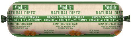 VitaLife Natural Diets Dog Food Roll Chicken & Vegetables Formula - image 1 of 1