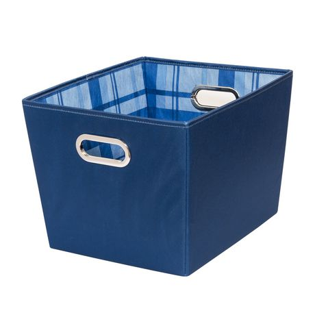 Honey Can Do Bacs de rangement Moyen S/2 – Bleu - image 4 de 4