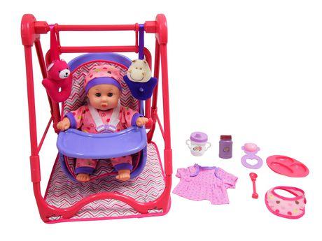Ensemble 4 en 1 avec poupée (Violet) - image 1 de 1